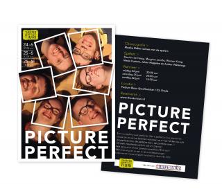Flyer voorstelling Picture Perfect voor Theaterwerkplaats Tiuri