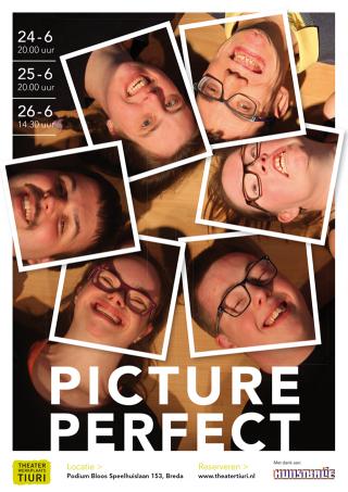 Poster voorstelling Picture Perfect voor Theaterwerkplaats Tiuri