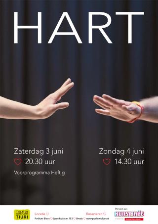 Poster voorstelling HART voor Theaterwerkplaats Tiuri