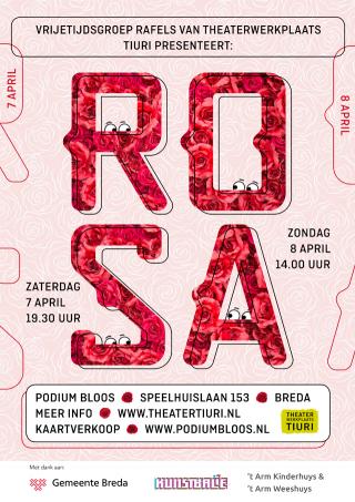 Poster voorstelling ROSA voor Theaterwerkplaats Tiuri